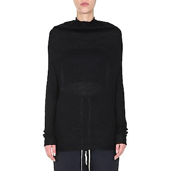 Rick Owens Rp20f2629kai09 Women's Black Wool Sweater