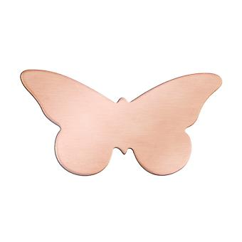 Copper Blanks Butterfly Pack of 6 35mm X 18mm X 0.9mm