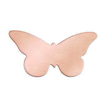 Kupfer Blanks Schmetterling Pack von 6 35mm X 18mm X 0,9 mm