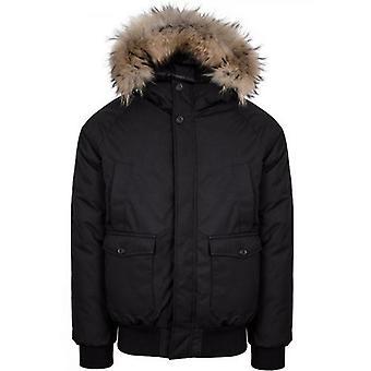 Pyrenex Black Mistral Fur Jacket