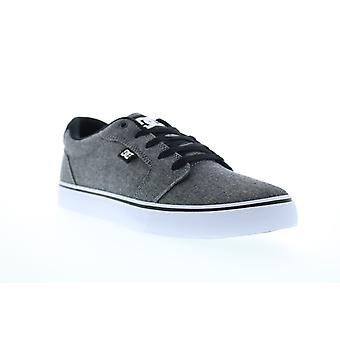 DC Anvil  Mens Gray Canvas Lace Up Skate Sneakers Shoes