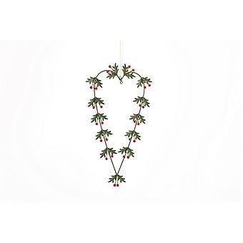 CGB cadeaux Noël Holly Heart suspendus décoration