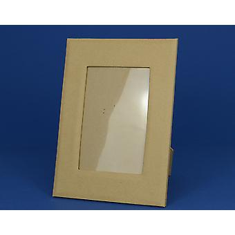 24cm Paper Mache Photo Frame with Rectangular Aperture to Decorate