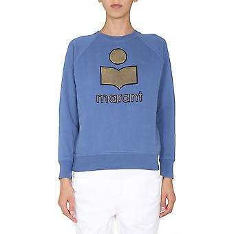Isabel Marant ÉToile Sw003720a054e30bu Women's Light Blue Cotton Sweatshirt