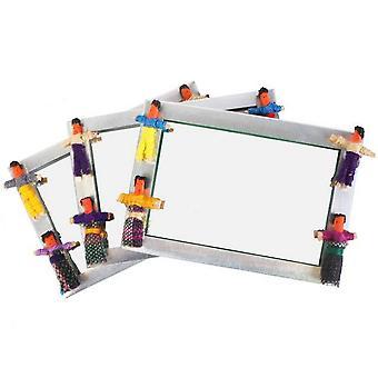 The Original Guatemalan Worry People Dolls Mirror (Set Of 36)