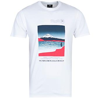 Edwin Wakker Print Wit T-shirt