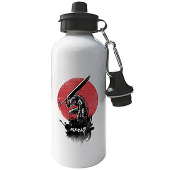 Beserk Red Sun Swordsman Aluminium Sports Water Bottle