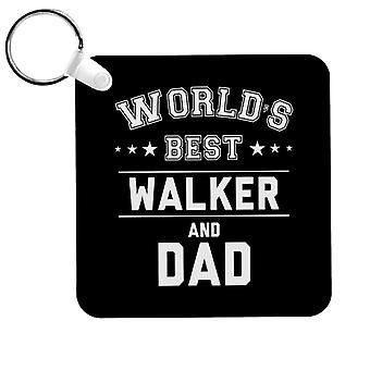 Worlds Best Walker And Dad Keyring