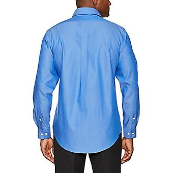 "BUTTONED DOWN Men's Classic Fit Button-Collar Solid Non-Iron Dress Shirt (Pocket), French Blue, 16.5"" Neck 36"" Sleeve"