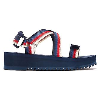 Tommy Jeans Degrade Tape Flatform Womens Navy Sandals