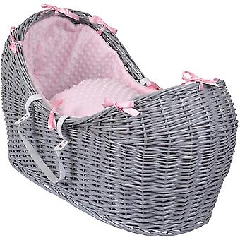 Clair de Lune Dimple Noah Pod Basket Grey