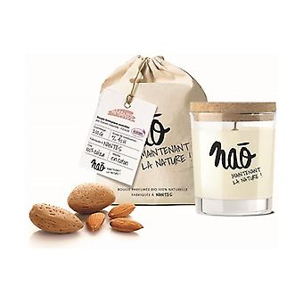 Large natural almond scented candle 40 h 200 g