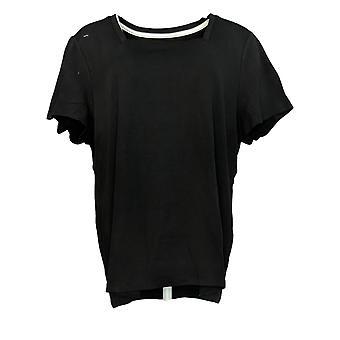 Isaac Mizrahi Live! Women's Top Essentials Square Neck Black A376802