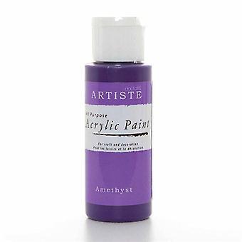 Peinture acrylique Docrafts (2oz) - Amethyst (DOO 763224)