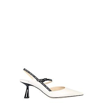 Jimmy Choo Ray65jwrlatte Women's Sandali in pelle bianca