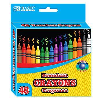 2510-48, BAZIC 48 Ct. Premium Quality Color Crayon