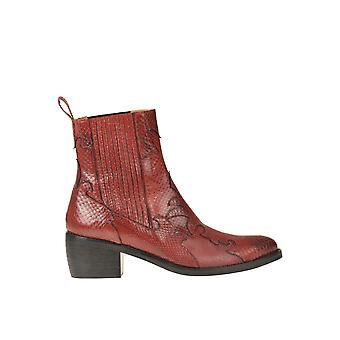 Malìparmi Ezgl194036 Femmes's Bottes de cheville en cuir rouge