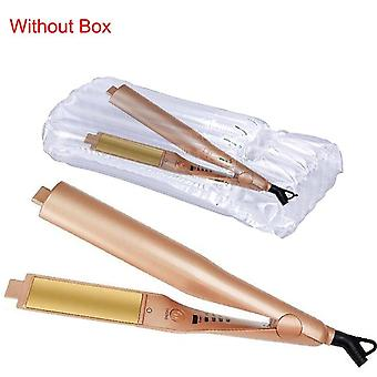 Hair Curler Wand - Hair Straightener Hair Styling Gold Titanium Pro Ceramic Corn Roller