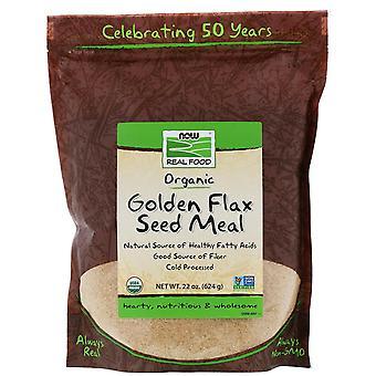 Maintenant aliments, aliments réels, repas de graines de lin doré, 1,4 lb (624 g)