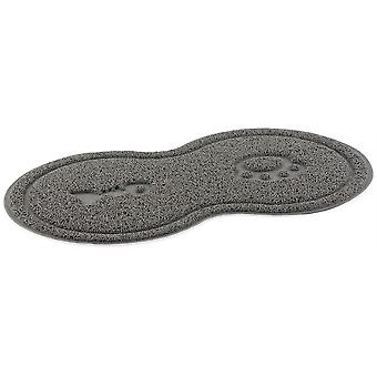 Ancol Cat Place Mat Paw And Fishbone - 46x26cm - Grey
