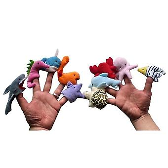 Cartoon Animal Finger Puppet Baby Plush