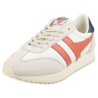 Gola Boston 78 Naisten Casual Trainers Off White Navy