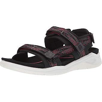 ECCO Women's X-Trinsic Sandal, Textil Negro/Teaberry, 35 M UE (4-4.5 US)