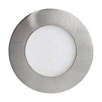 LED Outdoor Recessed Spotlight Satin Nickel IP44