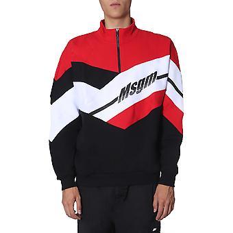 Msgm 2740mm7219579999 Männer's Schwarz/rot Baumwoll-Sweatshirt
