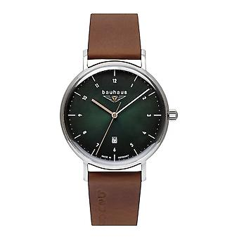 Bauhaus 2140-4 Green Dial With Date Wristwatch