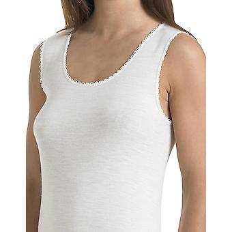 Slenderella V21 Women's White Cotton Vest Top