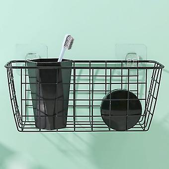 Wrought Iron Grid, Single Tier, Wall Mounted Hanging Basket