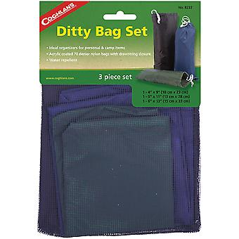 Coghlan's Ditty Bag Set (3 Piece), Water Repellent Storage, Camping Clothing