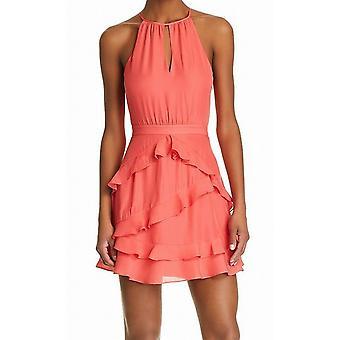 Parker | Ruffle Trim Sleeveless Keyhole Mini Party Dress