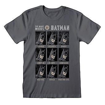 Menn's DC Tegneserier De mange stemninger av Batman T-skjorte