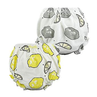 2 Pcs/lot Cotton Newborn Underwear Baby Disper Pants, Baby Panties- Infant