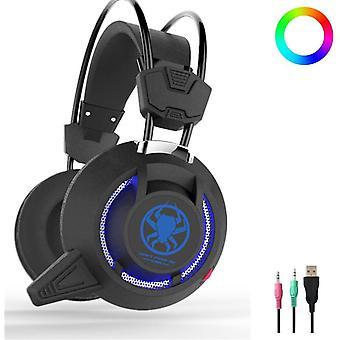 PLEXTONE PC835 50mm Driver Unit LED Light Gaming Headset Headphone With Mic