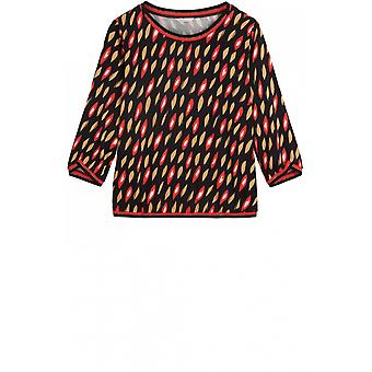 Sandwich Clothing Red Bold Print Blouse
