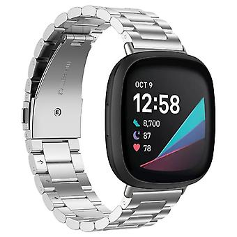 Armband Roestvrij Staal Fitbit Sense - Zilver