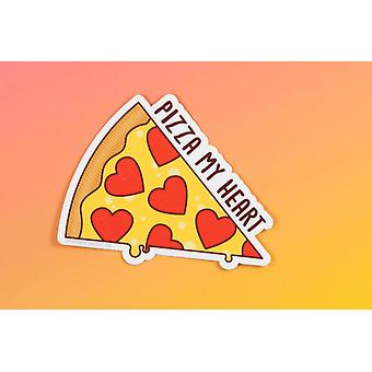 "Vinyl Sticker - ""pizza My Heart"""