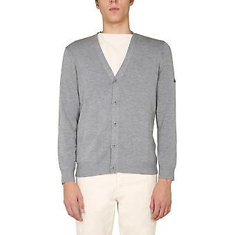 Saint James 0863xq Men's Grey Wool Cardigan