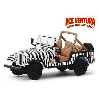 1:43 Scale ace ventura 'when nature calls' - 1976 jeep cj-7 diecast model