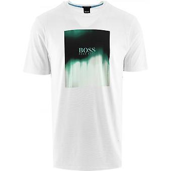 BOSS White Mixed Print T-Shirt