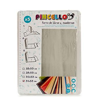 Adhesive Book Cover (5 Pieces) (31 x 53 cm)