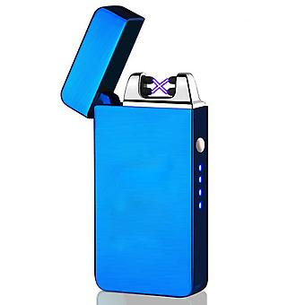 Usb Electric Lighter Fingerprint Touch, Fire Electronic Plasma, Double Arc,