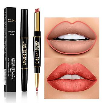 2 In 1, Double Head- Matte Lipsticks And Lipliner
