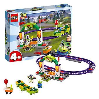 Lego 10771 4+ toy story 4 carnival thrill coaster com buzz lightyear e minifiguras alienígenas
