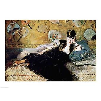 The Lady with Fans Poster Print by Edouard Manet
