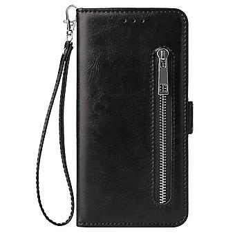 Max Wallet Leather Case, Zipper Flip Stand, Cover Mobile Phone Bag