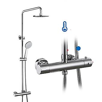 Thermostatic Shower System Hot & Cold Mixer Bathroom Set